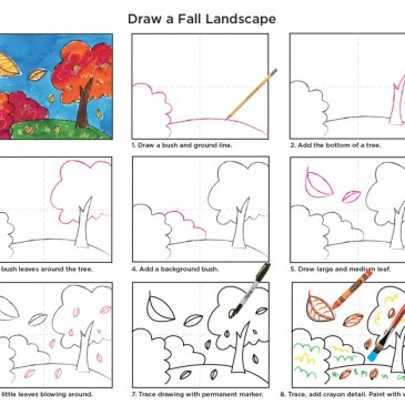 How to Draw Fall Tree Tutorial