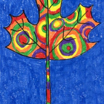 Maple Leaf Drawing, Kandinsky Style