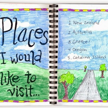 """Places I'd Like to Visit"" Journal Page"