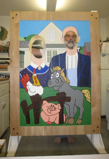 American Gothic Face-in-the-Hole