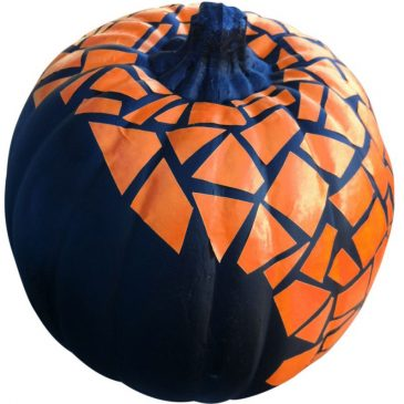 Mosaic Black Craft Pumpkin