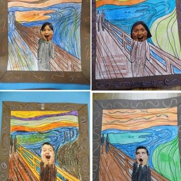 "Student's ""Scream"" Art"