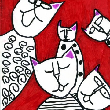 Zack's Abstract Cats