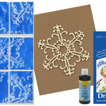 Pieced Snowflake Art Trading Cards