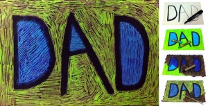 scratch art dad card