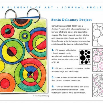 Delaunay Art Journal Page