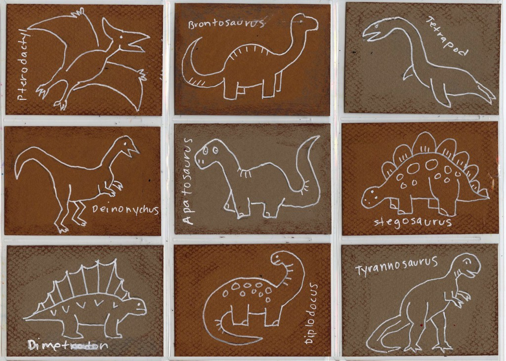 Dinosaur Art Trading Cards Art Projects For Kids