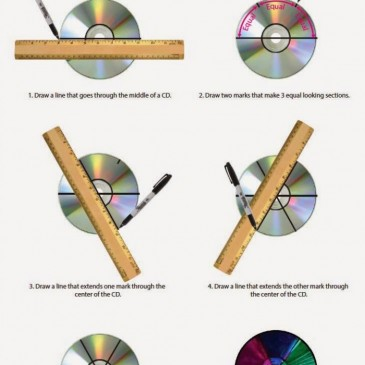 Divide a CD into 6 Sections
