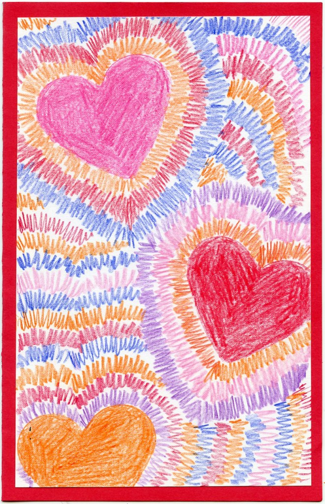 Students can practice drawing radial symmetry around hearts to make ...