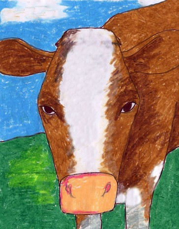 Draw a Cow Face