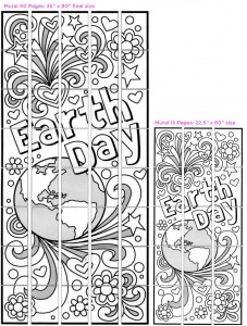 Doodle Earth Day collaborative art project