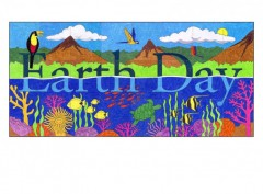 Earth Day Tropical Mural