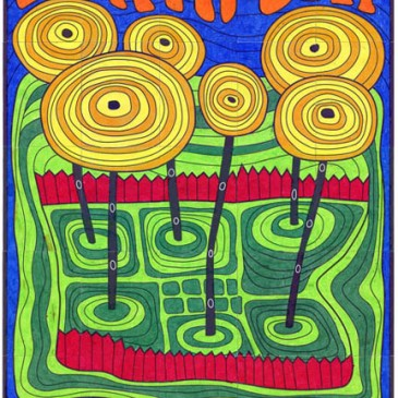 Earth Day Mural, Ode to Hundertwasser