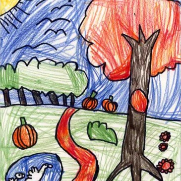 Fall Landscape Drawing