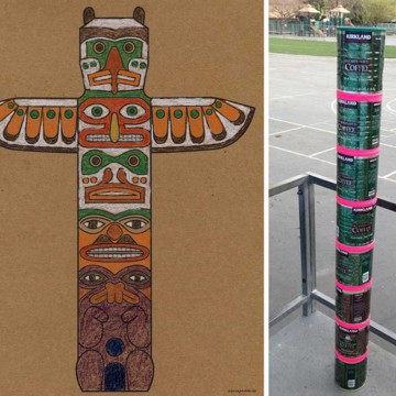 Native American Totem Pole Coloring Page