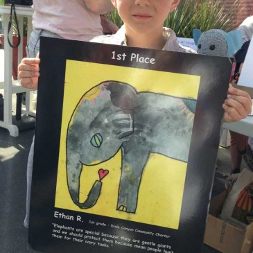 Love Elephants Art Contest Winner