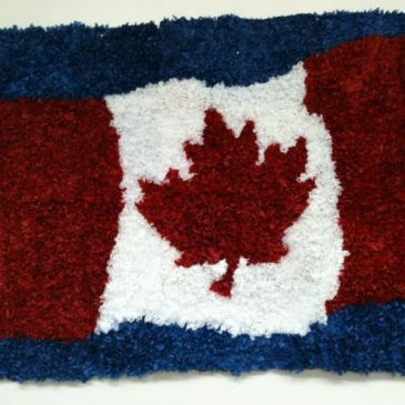 Canadian Flag and Tissue Paper