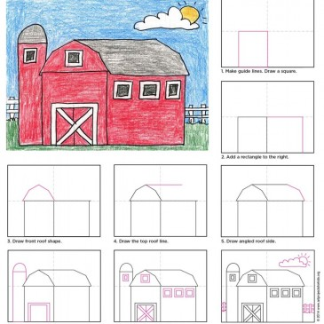 How To Draw a Country Barn