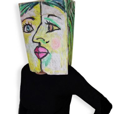 Cubist Paper Bag Costume