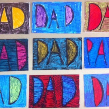 DAD Cards by Second Graders
