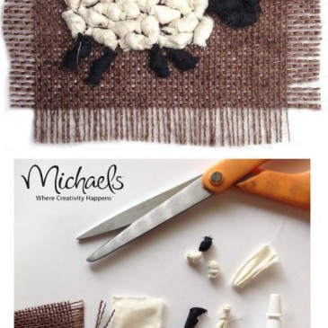 Michaels Faux Rag Rug Sheep