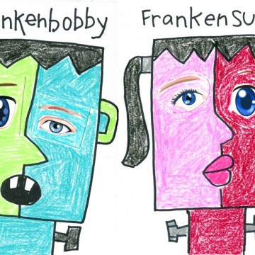 Frankenkids Cubist Collage