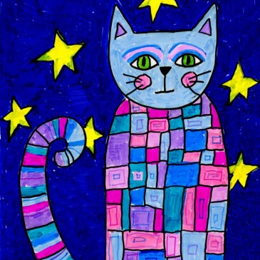 Pattern Cat with Markers