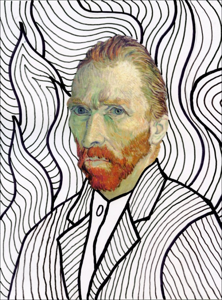 Line Drawing By Vincent Van Gogh : Van gogh line drawings art projects for kids