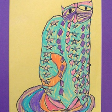 How to Draw a Laurel Burch Cat