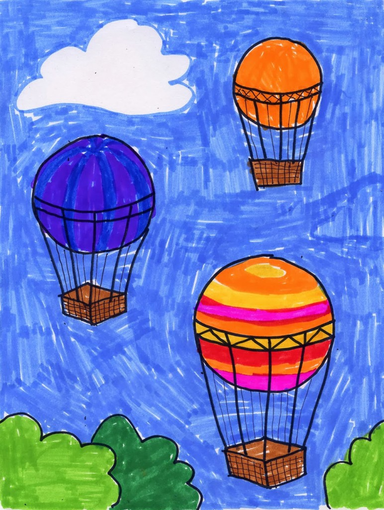 balloon drawing for kids - photo #9