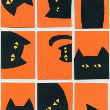 Kitty Collage ATCs