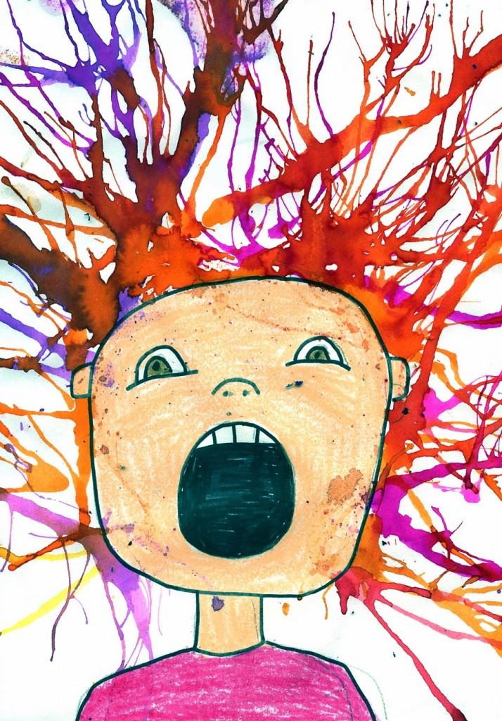 the scream and blow painting art projects for kids
