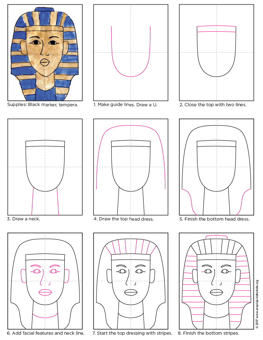 Here's Abo Make In Art Heaven €� Gold Tempera And A King Tut Painting  Project