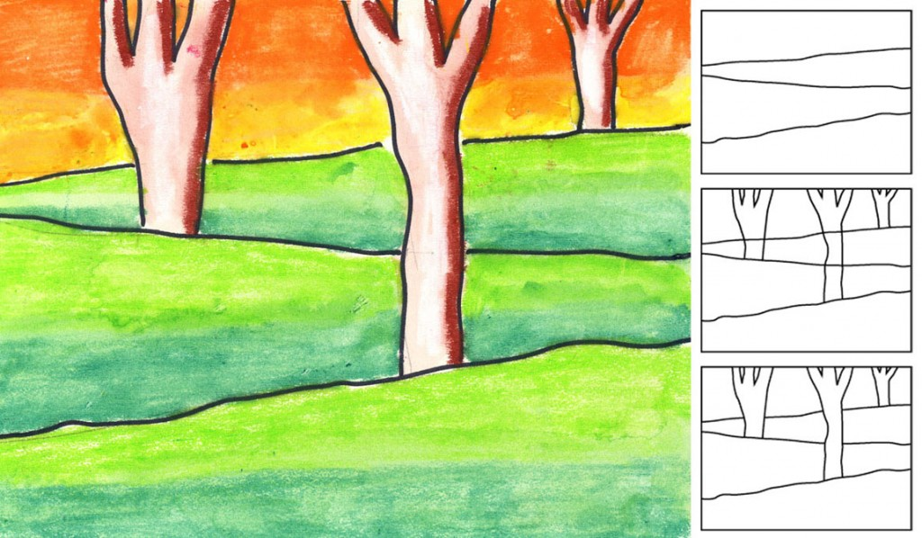 Draw Landscape With Layers Art Projects For Kids