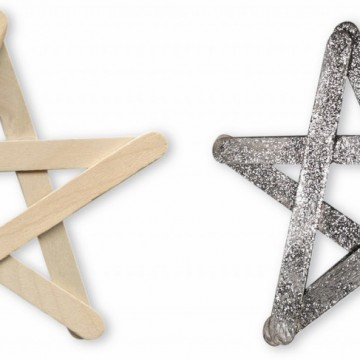 Popsicle Stick Glitter Star