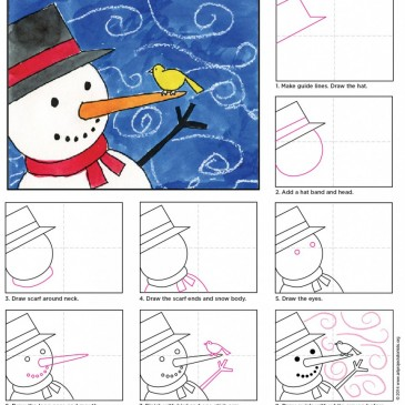 How to Draw a Windy Snowman