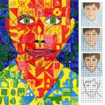 Chuck Close Self Portrait by Leo
