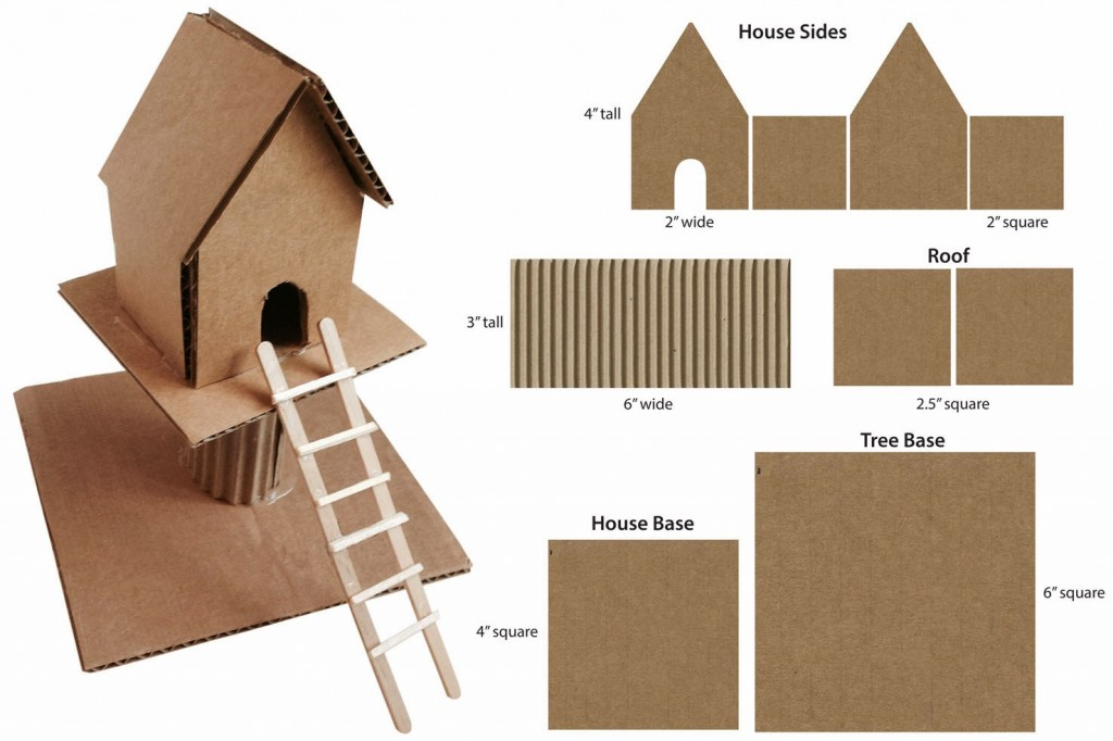 Cardboard Treehouse - Art Projects for Kids