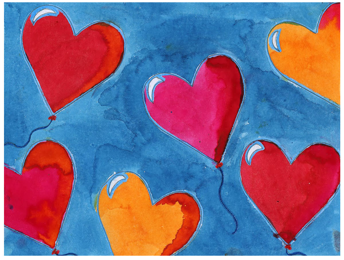 Balloon hearts art projects for kids - How to make heart balloon ...