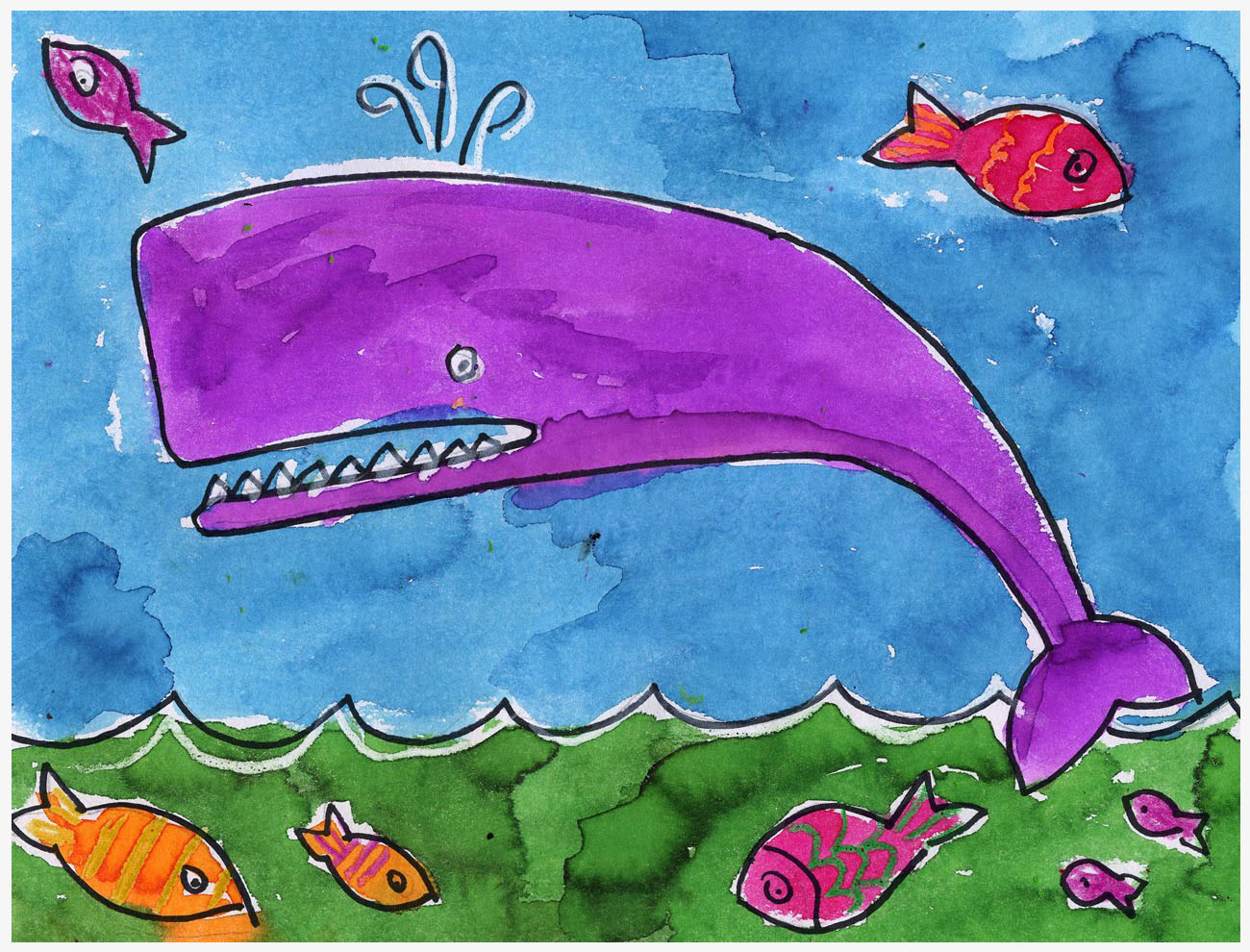 Whale painting art projects for kids for Painting projects for kids