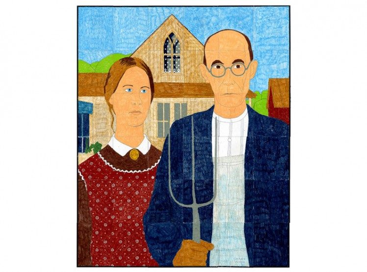 American gothic mural art projects for kids for American mural project