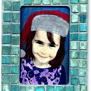 Recycled Mosaic Picture Frame