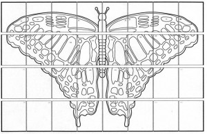 butterfly mural collaborative art project diagram
