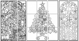 Christmas mural collaborative art project diagram