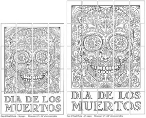 Day of the Dead collaborative art project