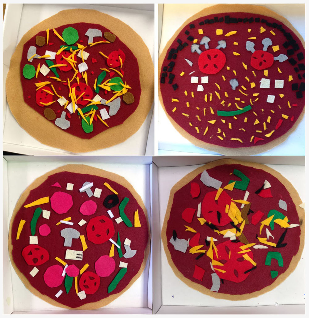 Felt pizza art projects for kids for Felt arts and crafts