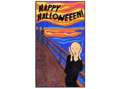 Happy Halloween Scream Mural