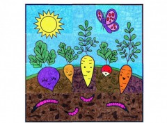 Happy Vegetable Mural