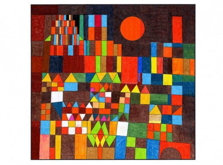 Paul Klee Sun Mural - Art Projects for Kids