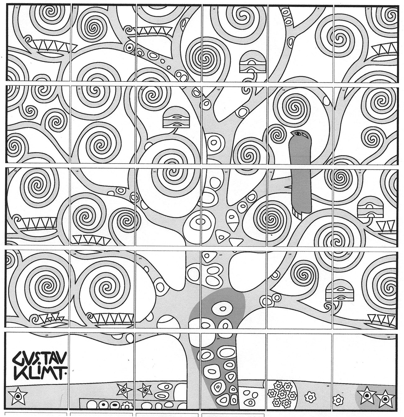 Klimt Tree of Life - Art Projects for Kids